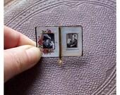 Doll's House Miniature - Victorian Photograph Album (fixed open)