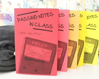 "Passing Notes in Class - ""found item"" zine"