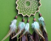 Dream Catcher - Bohemian - Star - Brown and Blue - Unique - Modern