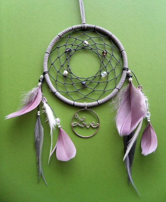 Dream Catcher - Love - Purple, Gray, and White