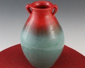 Americana Bud Vase in Red and Blue