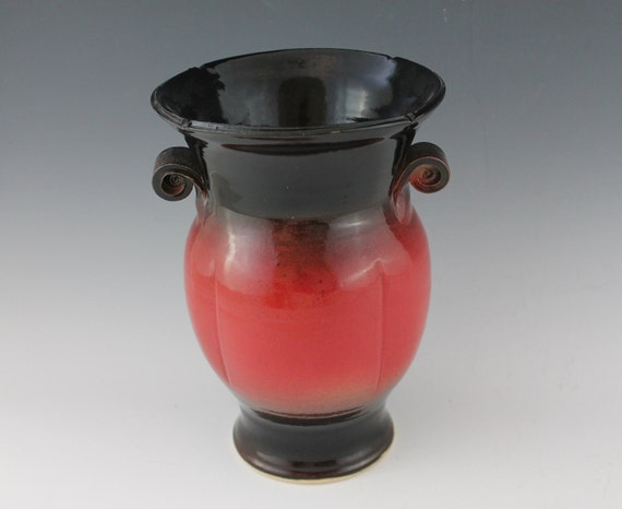 Red and Black Vase - Ready to ship - CIJ Sale