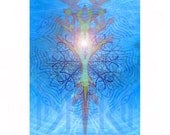 giclee print, limited edition - mandala: Light of Autumn Equinox