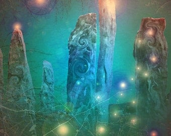 Magical Stones, giclee print, limited edition