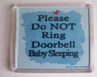 Doorbell Sign Do Not Ring Bell Baby Sleeping