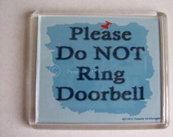 Do not Ring Doorbell Sign  Moms, Nurses, Firefighters
