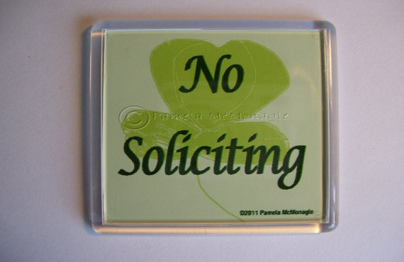 No Soliciting Doorbell Sign