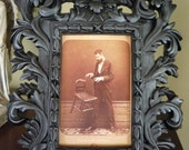 Upcycled Gothic 1920's Psychic/Medium Framed Photo