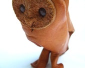 Vintage Mid Century Modern DERU Germany Leather Owl