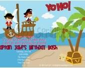 Pirate Birthday Invitation - DIY Printable by Simply Sprinkled