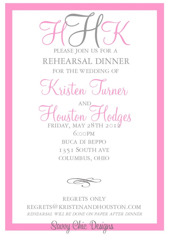 graphic relating to Printable Rehearsal Dinner Invitations named Berricle Rings: Cost-free Printable Rehearsal Supper Invites