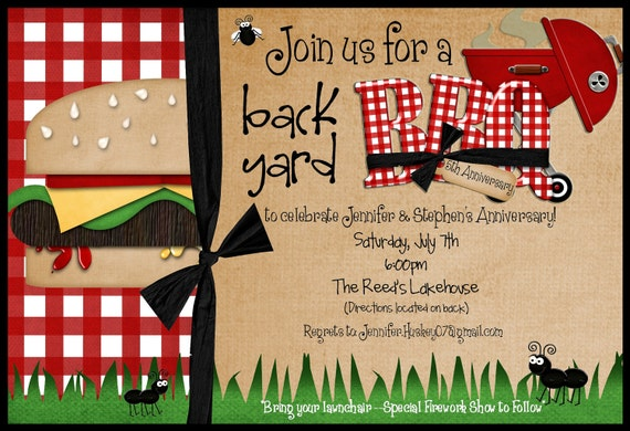 Backyard Bbq Wedding Invitations: Backyard BBQ Invitation DIY Printable By By SimplySprinkled