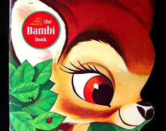 Vintage Kid's Book - Bambi Golden Shape Book - 1966