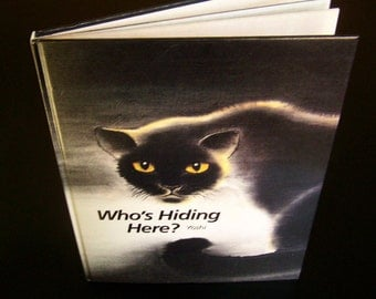 Vintage Children's Book - Who's Hiding Here (Signed by author) - 1987