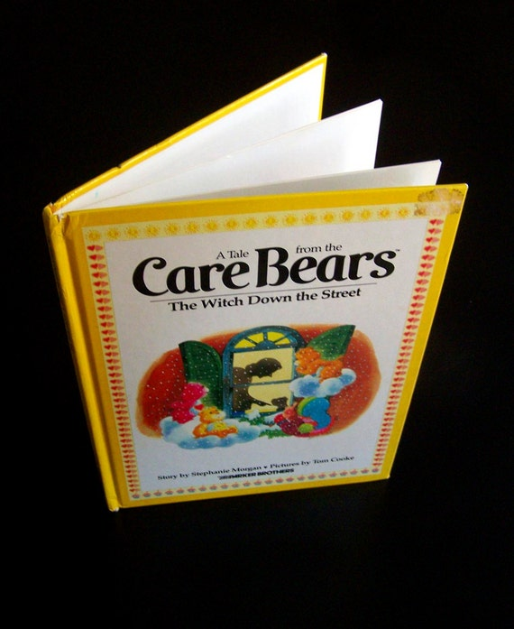 CUSTOM listing for Sonceia - Vintage 80s Children's Book - Care Bears The Witch Down the Street - 1983