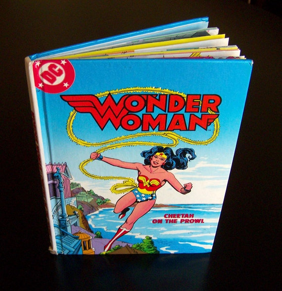Vintage Children's Book - Wonder Woman Cheetah on the Prowl - 1982