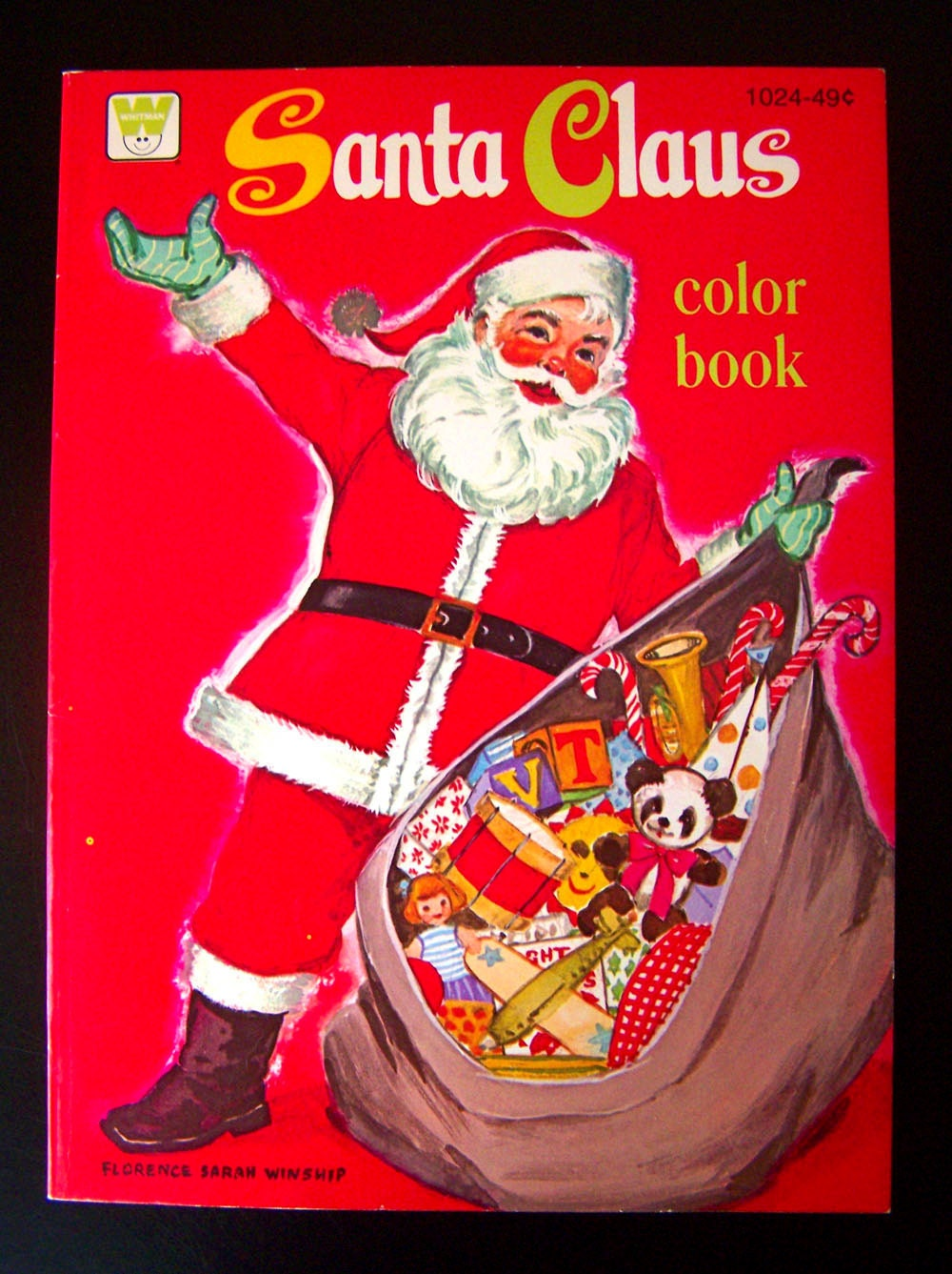 vintage christmas coloring book santa claus color book