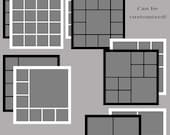 Basic Square Collection - (10) Square Custom Photo Storyboard/Collage Templates for Photographers and Personal Use