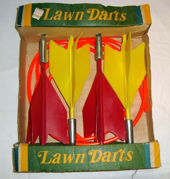 Vintage Lawn Dart Game