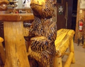 Bear Chainsaw Carving Rustic Cabin Lodge Decor