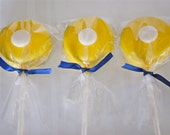 Nautical Yellow and Navy Blue Oreo Pops - 1 Dozen
