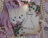 Ooh La La French Tres Chic Dress Gift Cards Hang Tags
