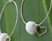 Puka Heart Hoop Earrings