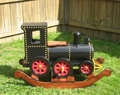 Lloyd, The Locomotive Wooden Rocker
