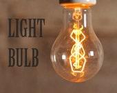 Edison style bulb, carbon filament