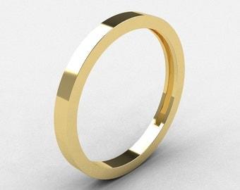 Modern Bridal 10K Yellow Gold Wedding Band R186B-10KYG