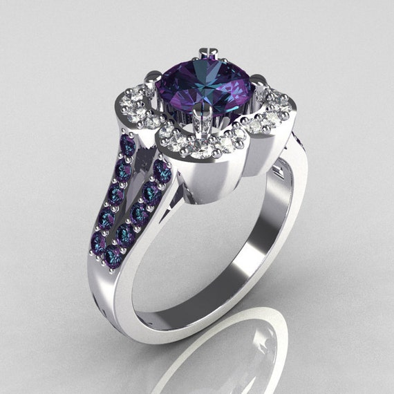 Classic 2011 Trend 10K White Gold 1 0 Carat Alexandrite