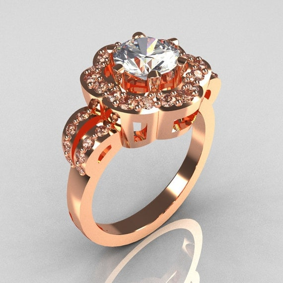 Items similar to Classic 10K Pink Gold 1 0 Carat CZ Diamond 2011 Trend Engage