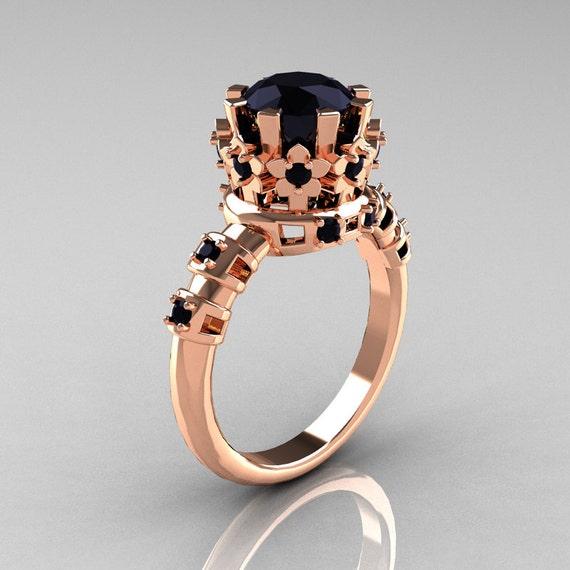 10 000 Up Diamond: Items Similar To Modern Vintage 10K Pink Gold 1.5 Carat