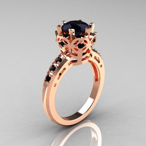 10 000 Up Diamond: Items Similar To Modern Classic 10K Pink Gold 1.5 Carat