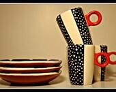 Espresso Mug and plate (ready to ship)