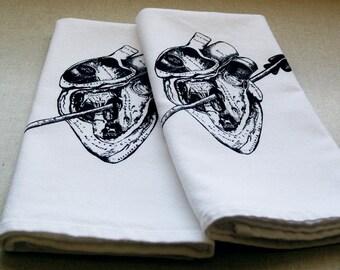 Anatomy of Love Set of 2 Cotton Napkins