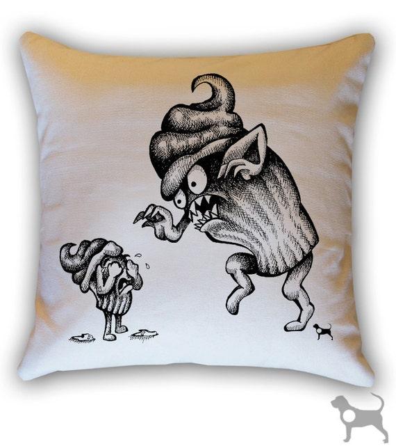 Cupcake Terror 14 x 14 Throw Pillow (CASE ONLY)