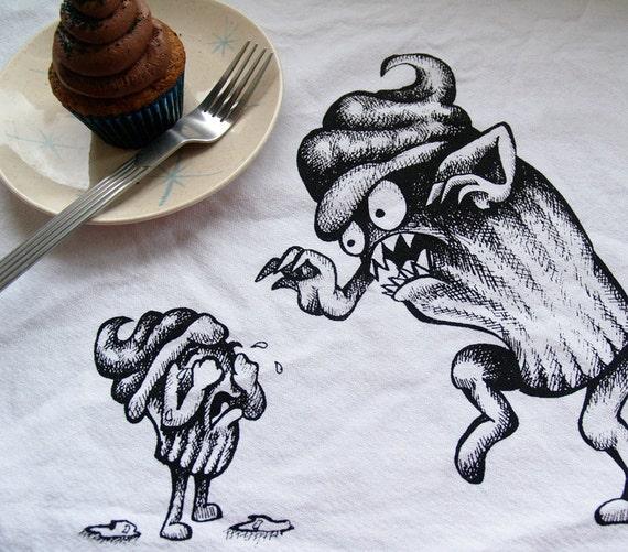 Cupcake Terror Set of 2 Cotton Napkins