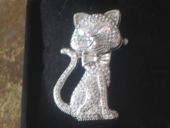 Cat Watch Siver Tone Unique Made By Gossip collectible ON SALE