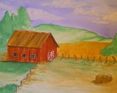 The Old Barn      watercolor