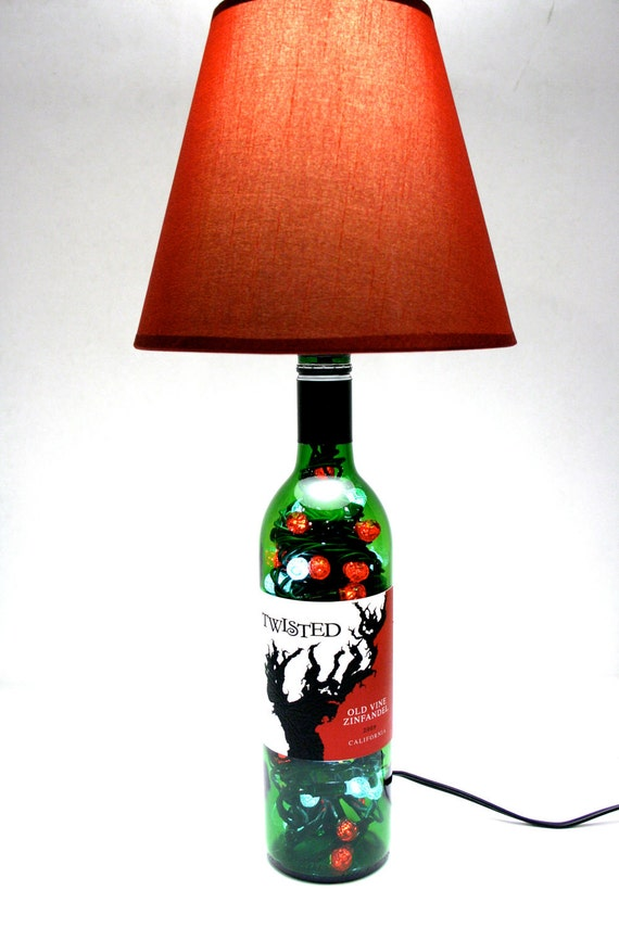 lighted wine bottle lamp led 4 option by jasonsimaginations. Black Bedroom Furniture Sets. Home Design Ideas