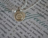 Layered Disc- Dainty- Hand Stamped Sterling Silver disc  1 disc