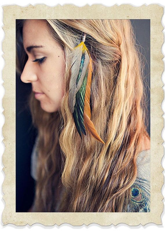 Feather Hair Extensions Etsy 47