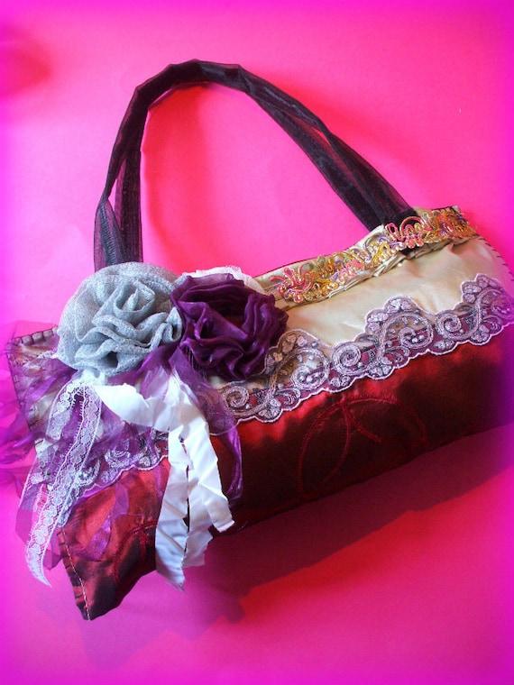 etsy 201 handmade BOHO bag.goth,romantic,shabby.....