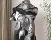 Scarf shawl Spring Fashion Nuno Felted Wool Silk wrap gift for her for mom fashion clothing women - The morning fog