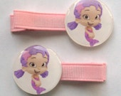 2 Boutique Girl Hair Clips Bubble Guppies Oona