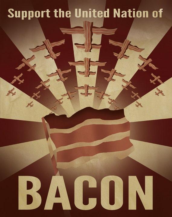 Bacon Propaganda Poster