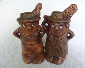 Vintage Salt and Pepper Shakers by Treasure Craft