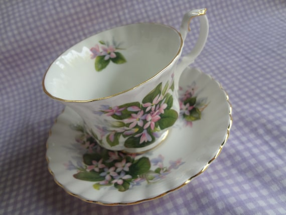 Vintage Royal Albert Tea Cup and Saucer Mayflowers