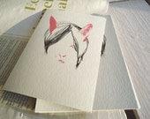 Cat's Hair pink postcard